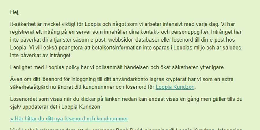 Är du kund hos Loopia!