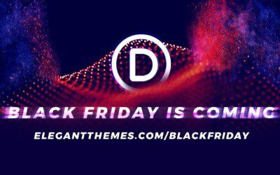 Snart Divi Black Friday!